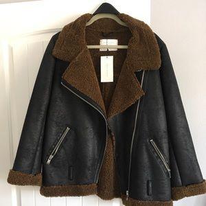 Zara Sherpa Moro Jacket